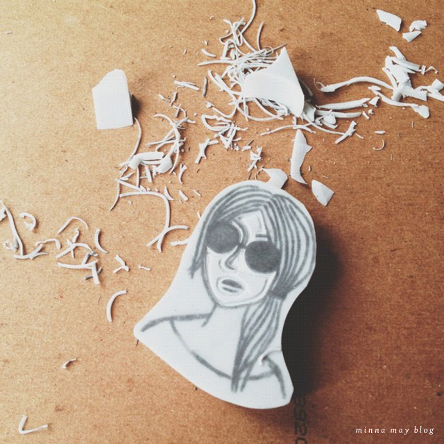 Hand carved stamp tutorial minna may design illustration