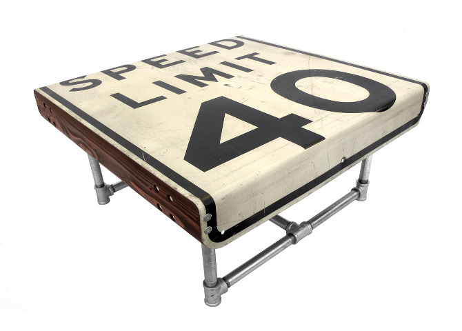 street sign furniture. The Popular Notion Of \u201cstreet Art\u201d Is Revisited In This Debut Furniture Collection. Work Upcycles Street Signs Into One-of-a-kind Pieces Furniture, Sign R