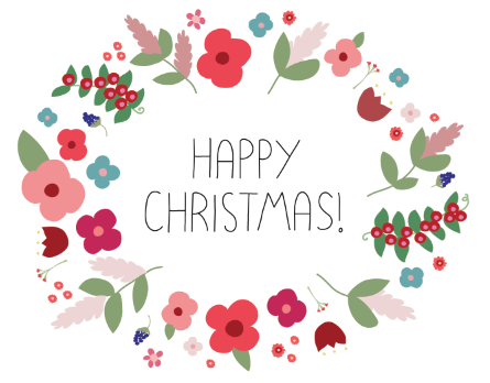 illustrated christmas card designed to suit the australian christmas